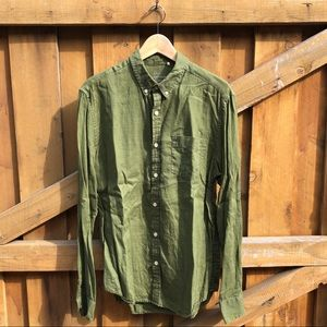 Lucky Brand M Long Sleeve Linen Button Down Shirt